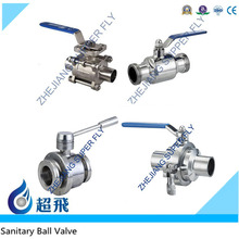 DN15 DN20 DN25 DN32 DN40 DN50 Three Piece Welded Manul Pneumatic Ball Valve Food Grade Milk Stainless Steel 304 316L Low Price