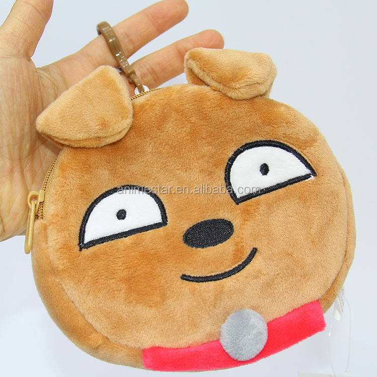6 Styles Korea Popular Cute Emoji Plush Purse Wholesale Cartoon Anime Wallet
