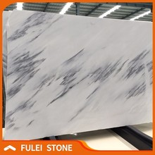 Chinese lighting white marble flooring colors with black veins
