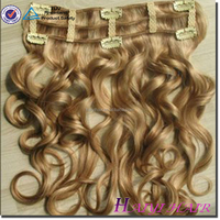 Alibaba Wholesale 100% Unprocessed Remy Human Hair Full Cuticles 6a hair extension for white people Unprocessed double clip hair