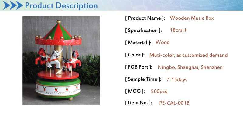 custom song wooden carousel horse music box gift wood for christmas decorations gifts