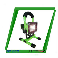 Handing portable rechargeable emergency light outdoor bankpower led flood light 10w working lamp 20w
