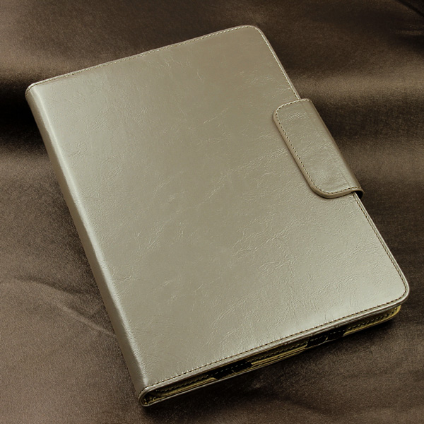waterproof A level silver classic 8 inch case for ipad slim wallet style with rubber band universal tablet case