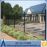 Standard Wrought Iron fence , Eco-friendly Aluminum Fence panels, Strong steel fence