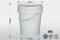 5 gallon high quality 100% virgin pp plastic round paint buckets with handle and lid for storing absorbent