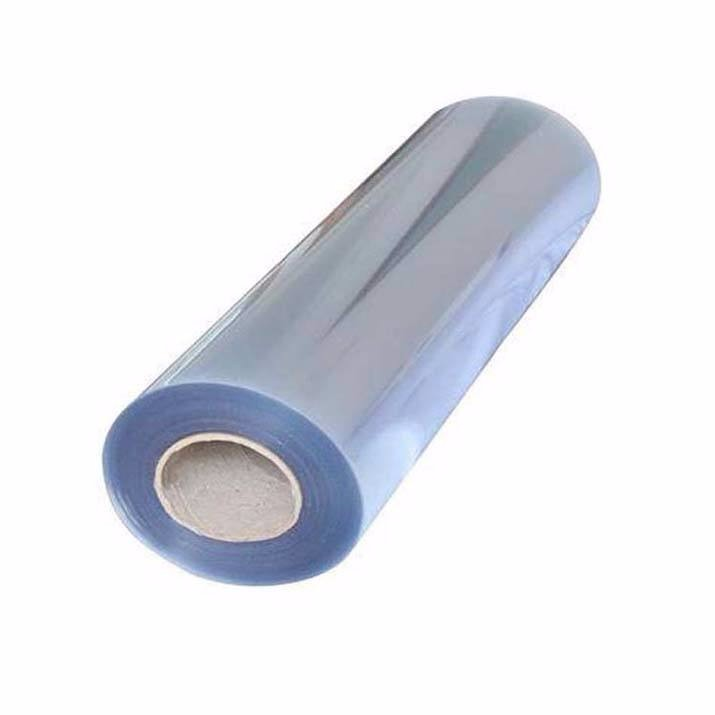 transparent recycled PVC plastic sheet in roll of factory
