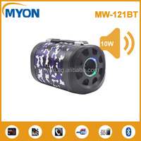 Camouflage Housing Led Display Screen Portable Wooden Bluetooth Speaker Wireless