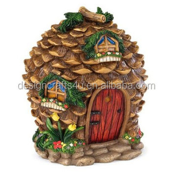 Fairy Village House in Pinecone Garden Fairy House