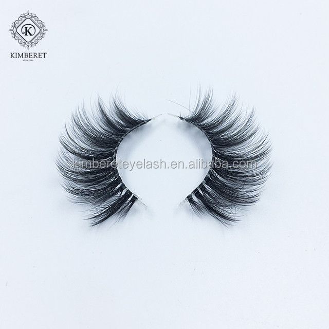 OEM custom box 3D clear band silk eye lash