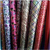 100% polyester material printing pvc foaming satin fabric