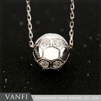 Persnoal football shaped sliver charm/pendant/necklace