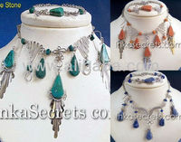 Sets Necklaces, Earrings and Bracelets w/ semi precious stone, mixed designs - Sets peruano