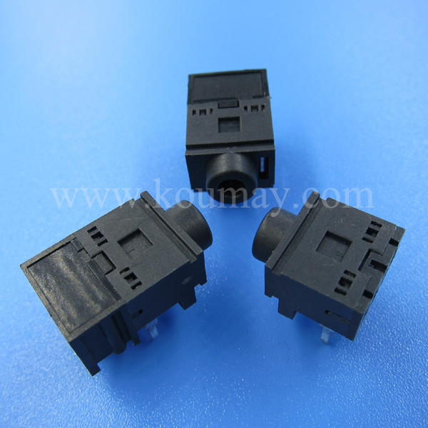 3.5mm 5 pin phone female jack with 2 switches
