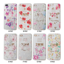Customized Colors Painted Flower Design Phone Cover Case For iPhone X 8 8Plus TPU Cases