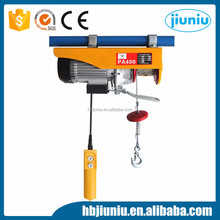 Mini size wire rope electric hoist small electric hoist PA type