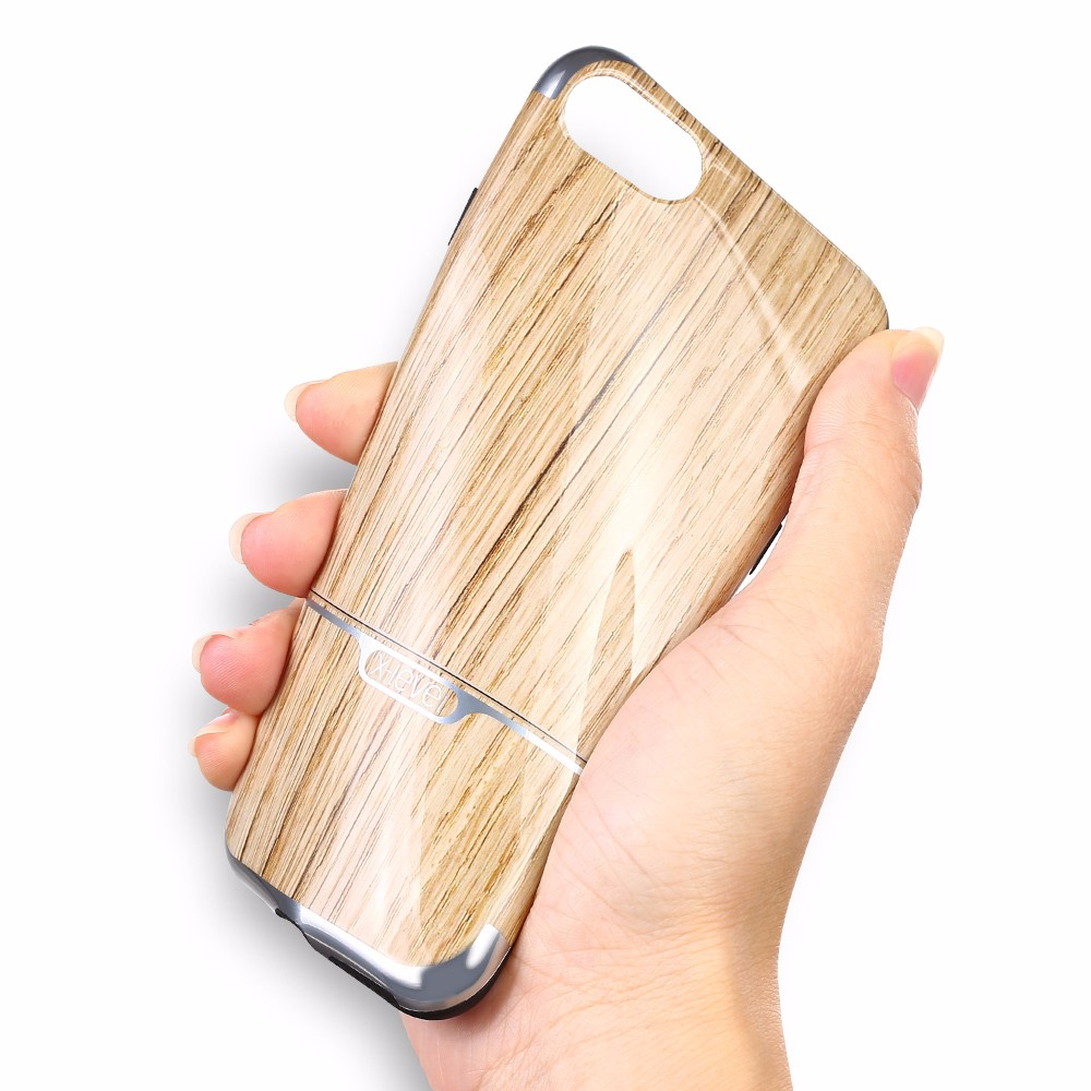 Xlevel Fashion Nature Wood Grain Phone Case for iPhone 7 back cover, For iPhone 7 Plus cases