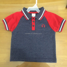 Stylish raglan sleeves baby boys toddler boy glofer T-shirt baby polo neck t-shirt