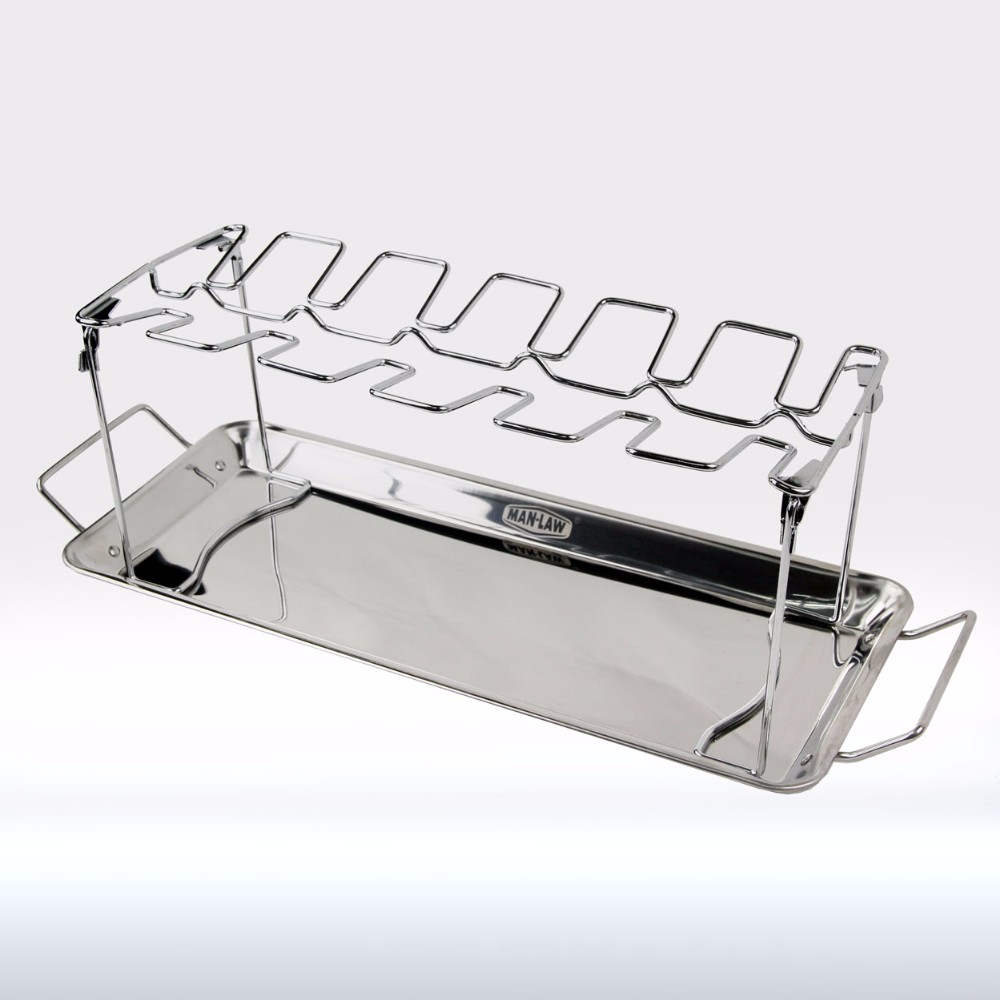 ManLaw Stainless Steel BBQ Wing Rack
