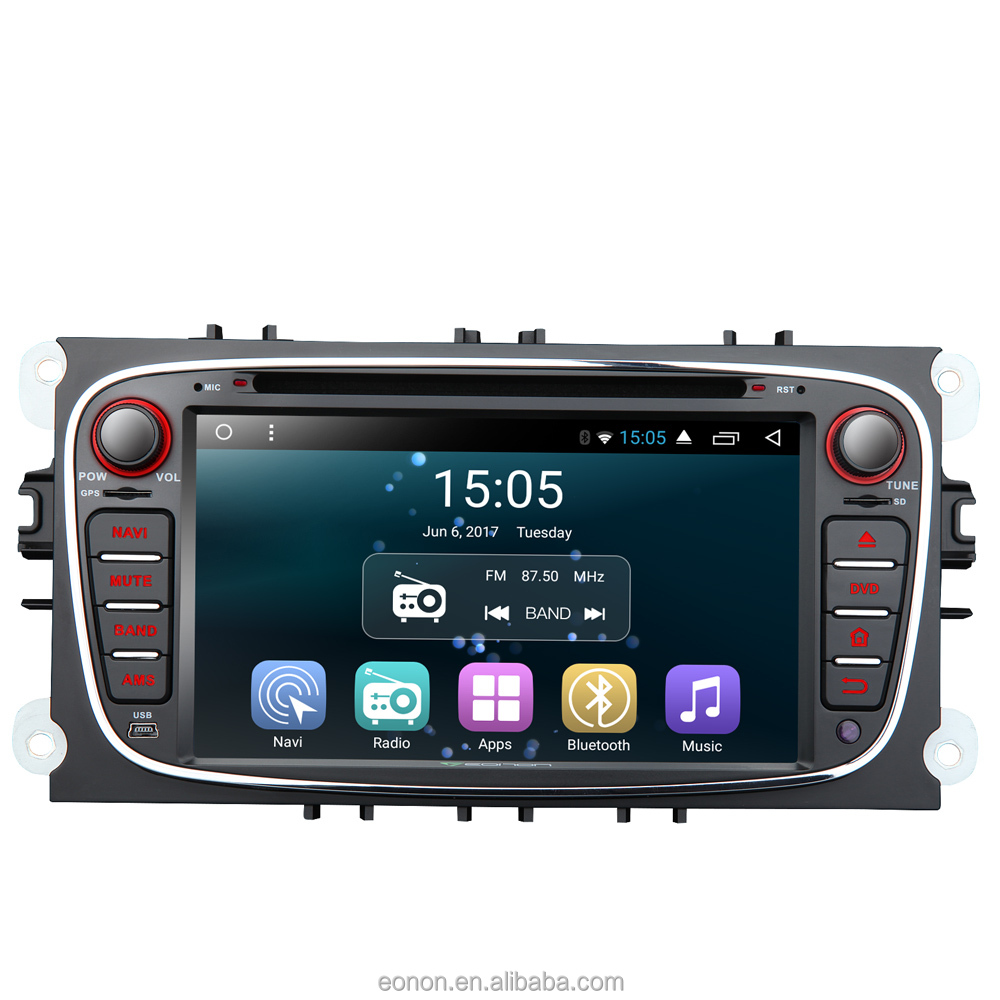 Eonon GA7162S for Ford Focus/Mondeo/S-max Android 6.0 Quad-Core 7inch Multimedia Car DVD GPS Navigation