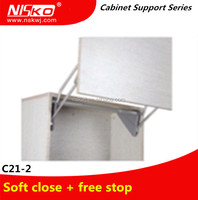 Cabinet soft close vertical lift up support