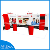 2016 expo Newest Style Reusable Advertising Aluminum Pop Up Booth Trade Show Standard Exhibition Booth 10x10 For Sale