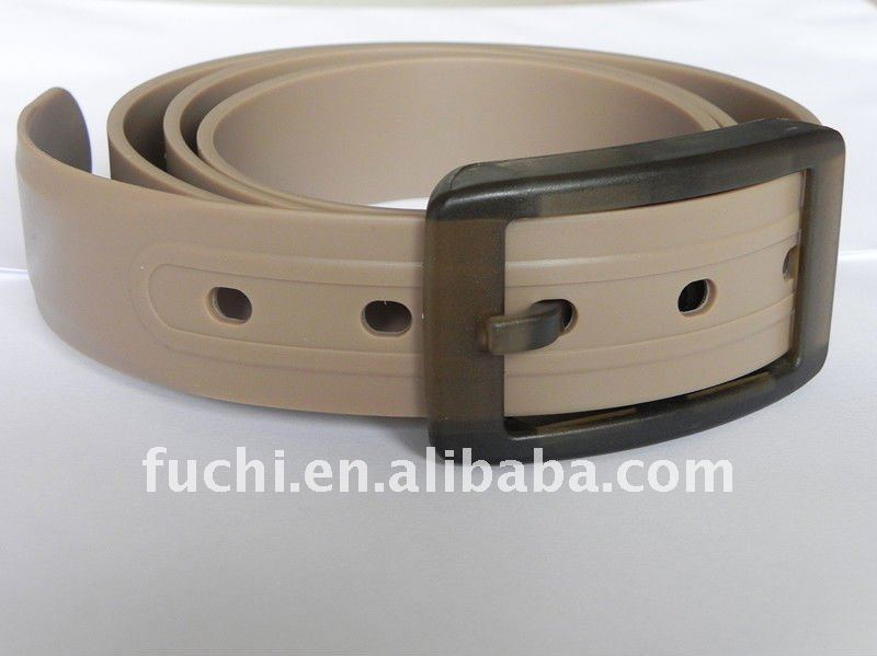 fashion rubber silicone belt with gray color