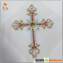Wholesale Cross Design 2014 New Acrylic Rhinestone Trimming