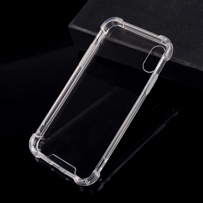 mobile phone accessories,mobile cover For iPhone X Mobile Phone Transparent TPU mobile cover