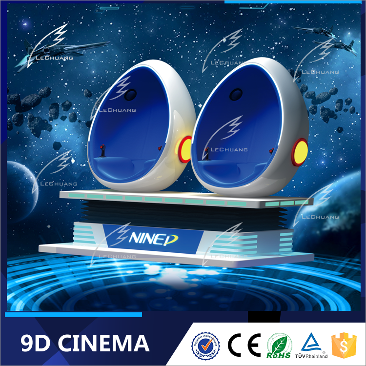 Virtual Reality Simulation Rides 360 Degree Platform 9D VR Cinema With 3 Seats 9D Movie Theater