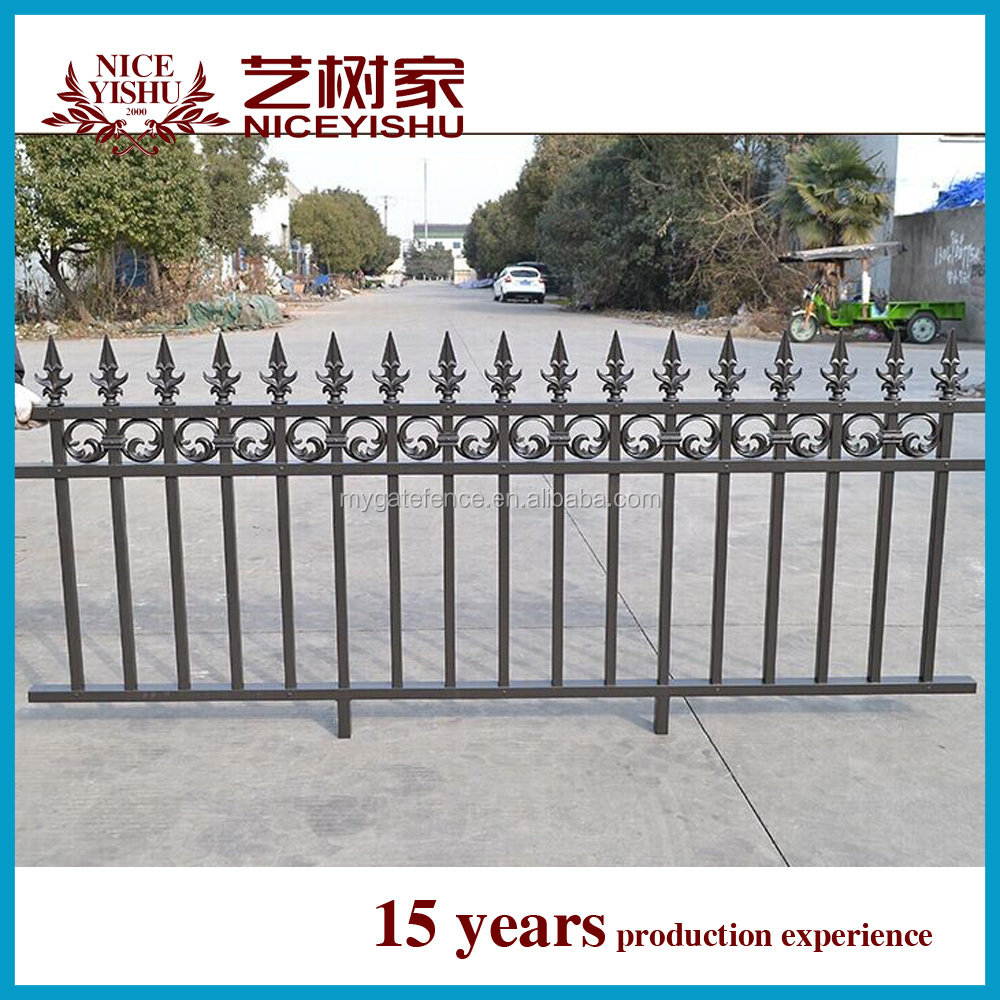 2016 new customized decorative cheap aluminum fence /used modern ornamental laser cut wrought iron fence for villas homes garden