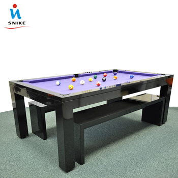 Modern marble top and wooden pool dining table price