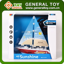 Plastic Mini Remote Control Battery Operated Boat Toy