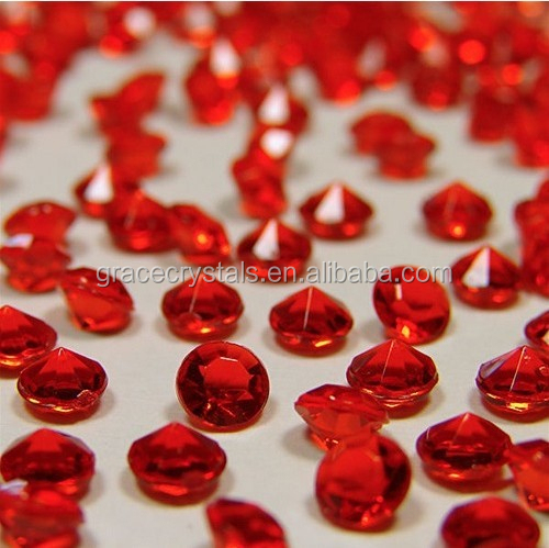 Red acrylic fake diamond decoration