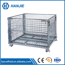 Custom 4.8-10mm diameter welded foldable wire mesh garbage cage