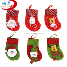 Wholesale Christmas Ornament, colorful various patterns mini christmas stocking