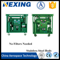 China Aerospace Tech Pure Physical Vacuum used motor oil cleaning machine