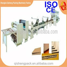 Complete corrugated cardboard carton production line