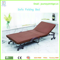 Portable folding floor chair fold down sofa bed with arms