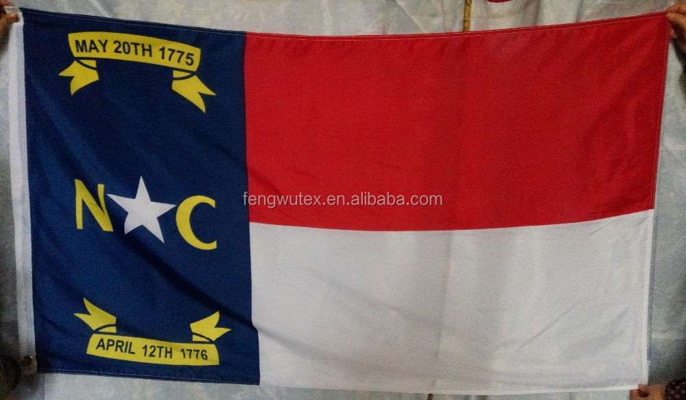 3x5ft 100D polyester US state North Carolina flag