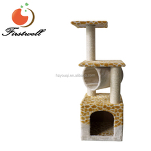Wooden Cat Scratching Pet Cat Kitten Stand Bucket Sisal Tree Toys Scratch Scratching Board Post Cat Tree House