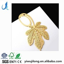 Novelty cute metal bookmark with maple leaf shape wholesale