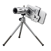 12X Zoom Camera Telephoto Telescope Lens + Mount Tripod For Cell Phone Universal