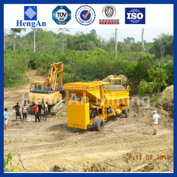 Africa popular diesel powered gold washing trommel for sale