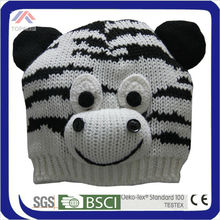 cute hand making warm winter whole animal style beanie hat