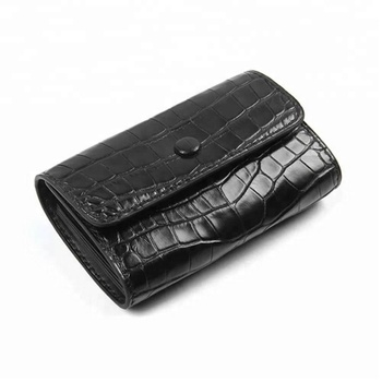 Genuine Crocodile/Alligator Leather Slim Card Holder Wallet Case