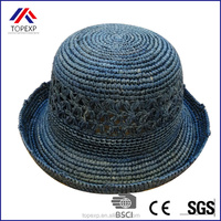 Promotional Summer Adults Roll Brim Straw Hat