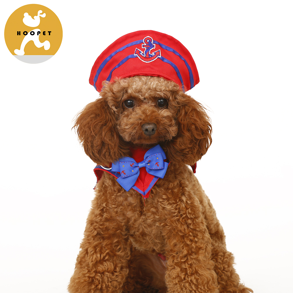 2016 latest fashion sailor style pet hat and collar suit