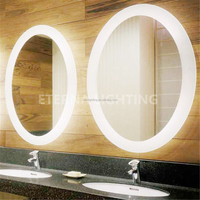 Oval Or Round Bathroom Design Led Shower Mirror For Hotel