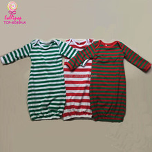 Latest baby names jumper Wholesale Christmas Baby Clothes pajamas gown Children Long Sleeve Kid sleepsack red and green Gowns