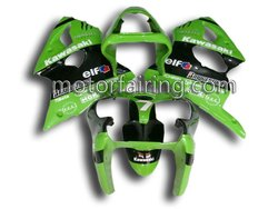 Automobiles and motorcycle kawasaki zx6r parts for 00-02 bodywork/motor fairing abs plastic kit green/black